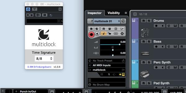 E-RM multiclock VST3 in Cubase 9.5